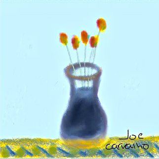 Jose Carvalho; Vase, 2014, Original Digital Drawing, 8.5 x 11 inches. Artwork description: 241   SimplVase  ...