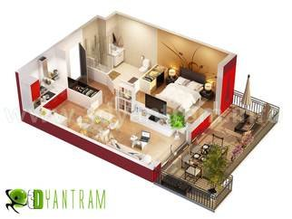 Ruturaj Desai; 3D Home Floor Plan Design..., 2013, Original Animation, 5.5 x 6 inches. Artwork description: 241 Yantram 3d Floor plan ModelingOur 3D Floor plan Designer expert in Interior design, so your empty plan will design with your expected interior furniture design. we design base on your CAD, PDF & sketch up File. if you don' t have any of this file so ...
