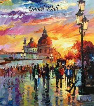 Daniel Wall; Catch Sight of Venice, 2016, Original Painting Oil, 18 x 22 inches. Artwork description: 241                            Naples Italy, Snowy Lake, Snow, Lake, waterfront, beach house, Portofino waterfront summer, Portofino Harbor, Italy Harbor, Italy Portofino. Italy Portaofino Sunset. Italian Sunny Day summer. Harbor morning, Harbor sunset, World famous artist painting. We Love Minnesota, Snow sunset. Canada sunset. Snowy Winter sunset. Amsterdam, Italy. Daniel Wall. ...