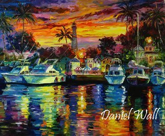 Daniel Wall; Hawaii Fishing Harbor At Dusk, 2015, Original Painting Oil, 28 x 22 inches. Artwork description: 241                     Naples Italy, Portofino waterfront summer, Portofino Harbor, Italy Harbor, Italy Portofino. Italy Portaofino Sunset. Italian Sunny Day summer. Harbor morning, Harbor sunset, World famous artist painting. We Love Minnesota, Snow sunset. Canada sunset. Snowy Winter sunset. Amsterdam, Italy. Daniel Wall. Hawaii Fishing Harbor At Dusk, seascape. Italy, ...