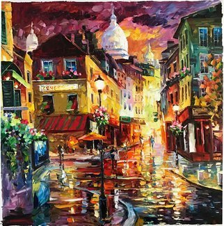 Daniel Wall, Montmartre paris, 2017, Original Painting Oil, size_width{montmartre_paris-1489369157.jpg} X 30 inches