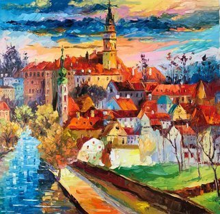 Daniel Wall; sunny prague, 2017, Original Painting Oil, 30.3 x 30 inches.