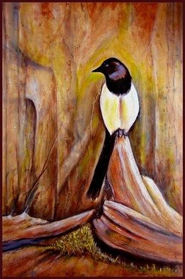 Walter Crew; idaho magpie, 2011, Original Painting Acrylic, 16 x 24 inches. Artwork description: 241           acrylic          ...