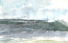 Artist: Walter King's, title: Fenwick Wave, 2003, Watercolor