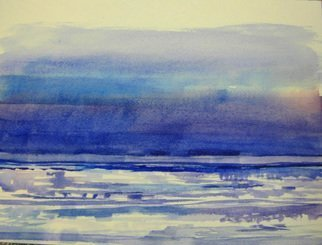 Walter King; Ice, 2014, Original Watercolor, 12 x 14 inches. Artwork description: 241  Ice out on Lake Erie ...