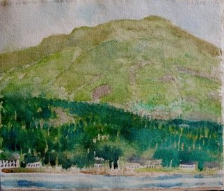 Walter King; Loch Long, 2014, Original Watercolor, 10 x 10 inches. Artwork description: 241  Loch Long near the top of Loch Lomand Scotland. ...