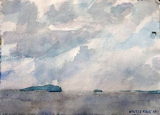 Walter King; Scottish Islands, 2014, Original Watercolor, 11 x 9 inches. Artwork description: 241  In May of 2014 we took some time in the Scottish Highlands, Argyle County, during a trip to Scotland, Oban and Appin for my step son's wedding.       ...