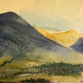 Artist: Walter King, title: The Highlands near Appin in..., 2014, Original Watercolor
