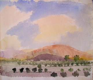 Walter King; Towards the Sierra Chicas, 2007, Original Watercolor, 10 x 6 inches. Artwork description: 241  Towards the Sierra Chicas west of Cordoba Argentina. ...