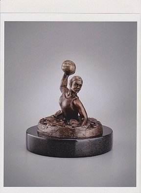 Robert Hughes; LadyShooter, 2012, Original Sculpture Bronze, 8 x 8 inches. Artwork description: 241 Celebrating 2012 Olympic Games Gold Medal USA Women' s Water Polo Team. Signed limited edition bronze by Olympic athlete and artist Bob Hughes     ...