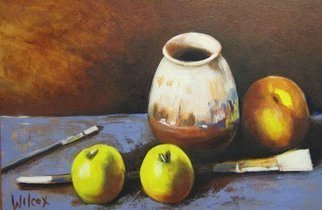 Wayne Wilcox; Applebrush, 2009, Original Painting Oil, 26 x 17 inches.