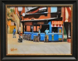 Wayne Wilcox; Beale Street Bar, 2011, Original Painting Oil, 24 x 18 inches. Artwork description: 241  Outdoor bar Beale Street Memphis     ...