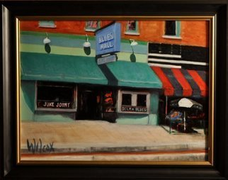Wayne Wilcox; Beale Street Juke Joint, 2011, Original Painting Oil, 24 x 18 inches. Artwork description: 241  Beale Street Memphis    ...