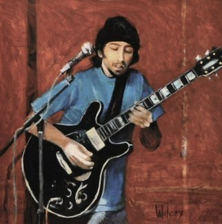 Wayne Wilcox; Blues Man, 2010, Original Painting Oil, 24 x 24 inches. Artwork description: 241   Beale Street Blues Player  ...