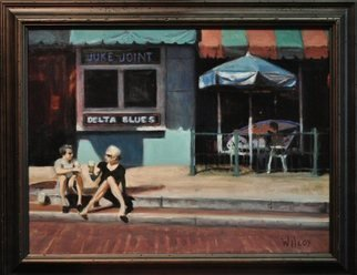 Wayne Wilcox; Delta Blues, 2010, Original Painting Oil, 24 x 18 inches. Artwork description: 241  Beale Street Memphis ...
