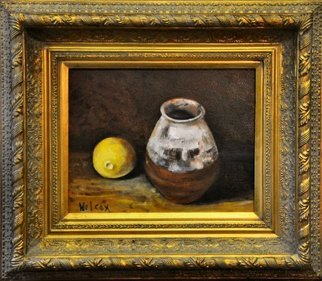 Wayne Wilcox; Still LIfe With Lemon, 2009, Original Painting Oil, 14 x 11 inches. Artwork description: 241  11 x 14 image size ...