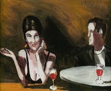 Artist: Harry Weisburd's, title: Cocktails for 2, 2013, Watercolor