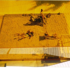 Harry Weisburd, , , Original Mixed Media, size_width{Sunbathing__Loving_Couple_at_the_Beach-1189376159.jpg} X 9 inches