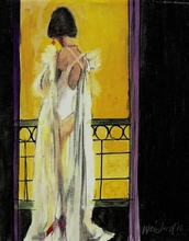 Artist: Harry Weisburd's, title: The White Gown, 2010, Watercolor