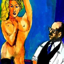 Harry Weisburd, , , Original Watercolor, size_width{homage_to_matisse_and_model-1548194678.jpg} X 14 inches