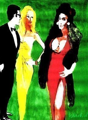 Harry Weisburd; jealousy aka the other woman, 2016, Original Watercolor, 18 x 24 inches. Artwork description: 241 Jealousy  , competition and rivalry between women ...