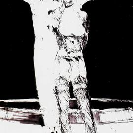 Harry Weisburd, , 2015, Original Drawing Ink, size_width{salome_homage_to_beardsley-1489864239.jpg} X 12 inches