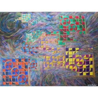 Mark Smith; Maelstrom, 2002, Original Painting Acrylic, 36 x 48 inches. Artwork description: 241 Abstract, colors...
