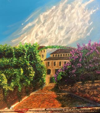 Mark Smith; Passage Tuscany, 2018, Original Painting Acrylic, 20 x 20 inches. Artwork description: 241 Tuscany alley...