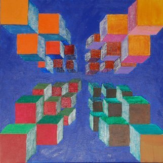 Mark Smith; Storage, 2009, Original Painting Acrylic, 24 x 24 inches. Artwork description: 241 Boxes of color...