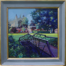 David Welsh, , , Original Painting Oil, size_width{College_Chapel_from_Luxmoores_Garden-1492188364.jpg} X 16 inches