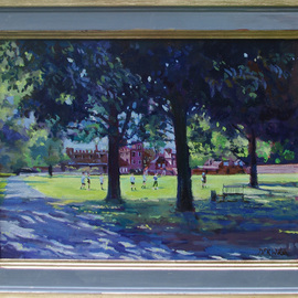 David Welsh, , , Original Painting Oil, size_width{College_Field,_Eton-1400000643.jpg} X 12 inches