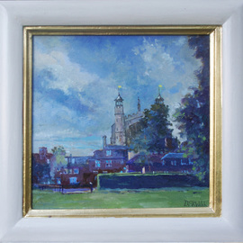 David Welsh, , , Original Painting Oil, size_width{Eton_Chapel,_stormy_sky-1400000694.jpg} X 12 inches