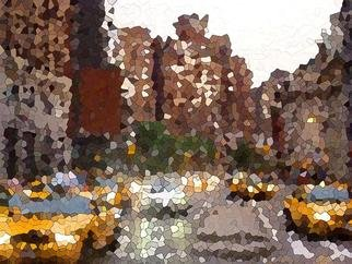 Wendel Johnston; NYC Taxi City, 2011, Original Printmaking Giclee - Open Edition, 24 x 30 inches. Artwork description: 241  NYC Taxi city is a Fine art print by Wendel Johnston Unframed/ Not on stretcher.Print is signed & dated on the back. Shipped in a mailing tube for protection.     ...