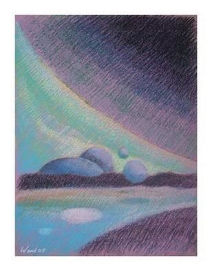 Daniel Wend; Perpetua, 2008, Original Pastel Oil, 16 x 20 inches. Artwork description: 241  Elemental work suggesting the motion of molecules or the cosmos, inner or outer spaces. ...