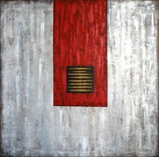 Wenli Liu; China Red 2 , 2007, Original Painting Acrylic, 36 x 36 inches.