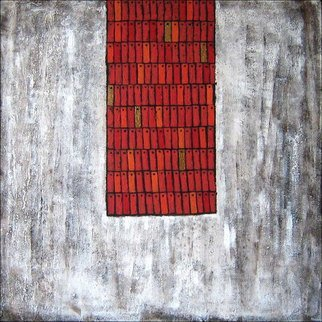 Wenli Liu; China Red, 2007, Original Painting Acrylic, 36 x 36 inches.