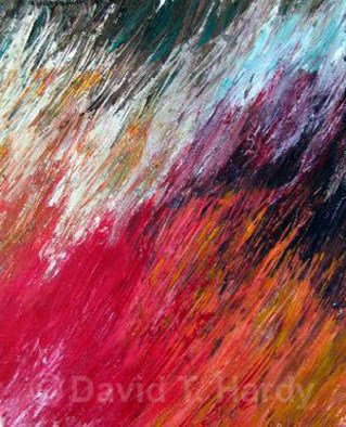 David Hardy; Flaming Fields, 2010, Original Painting Acrylic, 24 x 30 inches.