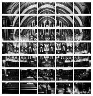 William Quellec; Basilique Notre Dame, 2002, Original Photography Black and White, 1 x 1 inches.
