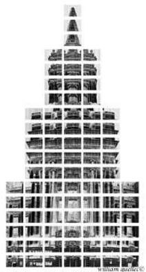 William Quellec; Pyramide Church, 2003, Original Photography Black and White, 1 x 1 inches.