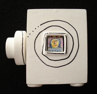 Wilson Sasso; LITTLE BOX 1, 2007, Original Mixed Media, 10 x 15 cm. Artwork description: 241  This is an interactive piece. An spinning knob shows little comics figures made of nankin and water color.  ...