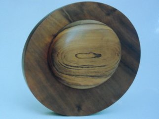 Wilson Sasso; Saturn, 2005, Original Woodworking, 37 x 37 cm. Artwork description: 241 Made from imbuia wood, turned. ...