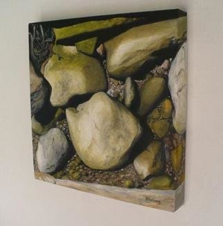 Peter Winberg; Close Up Of Stones 3, 2009, Original Painting Oil, 30 x 30 cm. Artwork description: 241  Motif from a photo taken by me ...