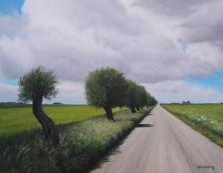 Peter Winberg; Road, 2005, Original Painting Oil, 35 x 27 cm. Artwork description: 241 This paintings is based on a photograph I took one day when I was on my way to my sisters place at the Meadows of Eskilstorp. The price does not include transport cost....
