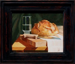 Wm Kelly Bailey; Bread And Water, 2013, Original Painting Acrylic, 8 x 10 inches. Artwork description: 241 Bread and Water, acrylic painting on stretched canvas.  10x8 painting, frame O.  D.  is 12 x 14.  Sold.  Private Collection, Houston, TX. ...