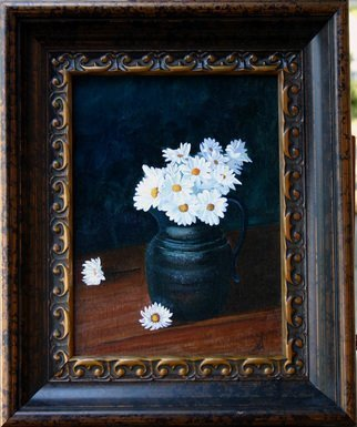 Wm Kelly Bailey; Daisies, 2011, Original Painting Acrylic, 9 x 12 inches. Artwork description: 241 Daisies Acrylic painting on canvas panel.  Size shown is image size frame size is 17. 25 x 14. 25.  Private Collection, Houston, TX...