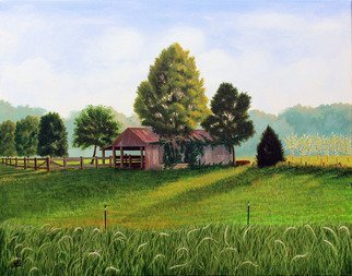 Wm Kelly Bailey; Spring Afternoon Montgomery Tx, 2016, Original Painting Acrylic, 28 x 22 inches. Artwork description: 241 Montgomery Texas Wm.  Kelly Bailey acrylic painting on canvas landscape Houston Country Meadow Barn ranch Horse Corral...