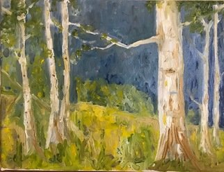 Henry Woody Lindenmeyr; Aspen Study, 2020, Original Painting Oil, 12 x 9 inches. Artwork description: 241 Aspens in the rocky mt summer. ...