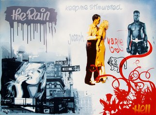 Chris Tian; KEEP ME STIMULATED, 2007, Original Painting Acrylic, 51 x 38 inches. Artwork description: 241   KEEP ME STIMULATED - 2007acrylic/ vinyl paintingscreenprint, brushes, marker & spraycotton canvas on stretcher97 x 130 cm38. 2 x 51. 2 inches...