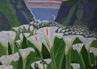 Yana Syskova; Calla Lilies In The Mountains, 2020, Original Painting Other, 42 x 27.9 cm. Artwork description: 241 Gouache on paper. ...