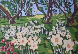 Yana Syskova; Daffodil Glade, 2020, Original Painting Other, 40 x 29.7 cm. Artwork description: 241 Gouache on paper ...